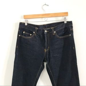 Details zu Mnml 42x33 Jeans Distressed Button Fly Ankle Zipper Denim Mens Size 40